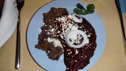 Homemade Pollo En Mole Negro (Chicken in Ozxacan Black Mole)